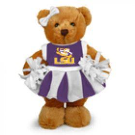 LSU Cheerleader Bear 8in