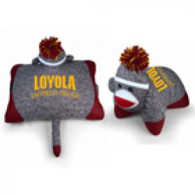 Loyola Pillow Sock Monkey