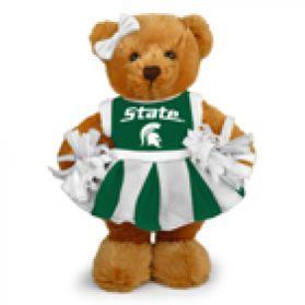 Michigan State Cheerleader Bear 8in