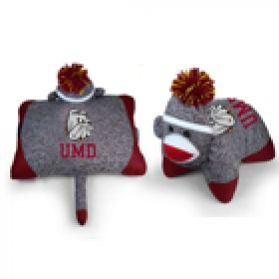Minnesota Duluth Sock Monkey Pillow 24in