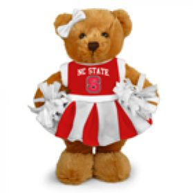 North Carolina State Cheerleader Bear 8in
