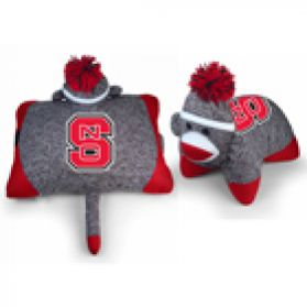 North Carolina State Sock Monkey Pillow 24in