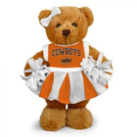 Oklahoma State Cheerleader Bear 8in