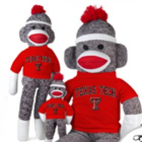 Texas Tech Sock Monkey
