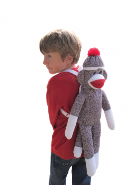 Sock Monkey Backpack