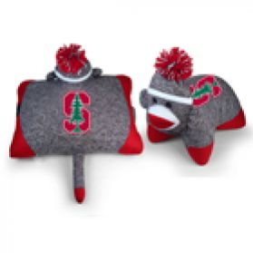 Stanford Sock Monkey Pillow