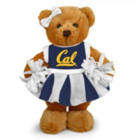 Cal Cheerleader Bear 8in