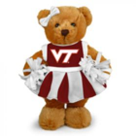 Virginia Tech Cheerleader Bear 8in