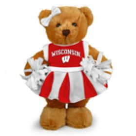Wisconsin Cheerleader Bear 8in