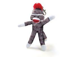 Sock Monkey Keychain - 4