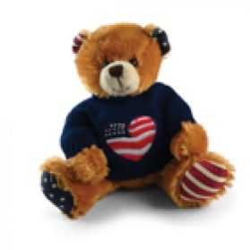 I Love USA Sweater Bear