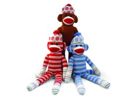 Holiday Sock Monkey (3 Asst.) - 20