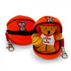Texas Tech Basketball Keychain