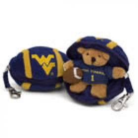 West Virginia Football Keychain