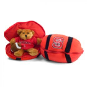 North Carolina State Zipper Football 8in