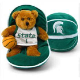 Michigan State Zipper Basketball 8in
