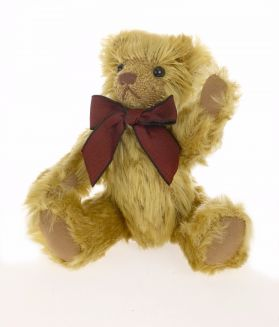 Jointed Fuzzy Mohair Bear 6in