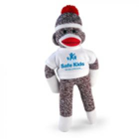 Safe Kids Logo T-Shirt Sock Monkey