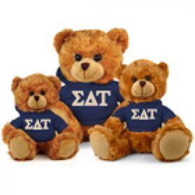 Sigma Delta Tau Hoodie Bear
