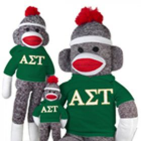 Alpha Sigma Tau Sock Monkey