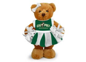 Cal Poly Cheerleader Bear 8in