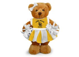 Cal State Long Beach Cheerleader Bear 8in