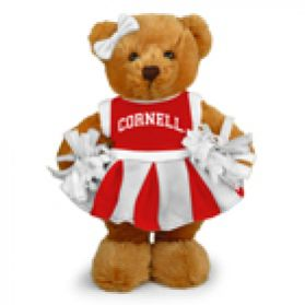 Cornell Cheerleader Bear 8in