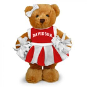 Davidson College Cheerleader Bear 8in