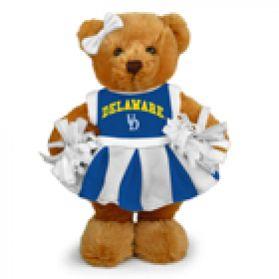 Delaware Cheerleader Bear 8in