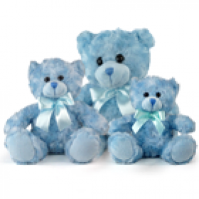 Fluffy Bear - Blue