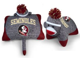 Florida State Sock Monkey Pillow 24in