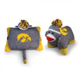 Iowa Sock Monkey Pillow