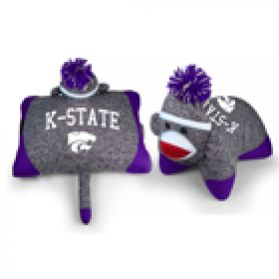 Kansas State Pillow Sock Monkey