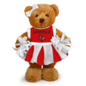 Louisville Cheerleader Bear 8in