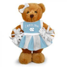 North Carolina Cheerleader Bear 8in
