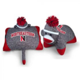 Northeastern Sock Monkey Pillow