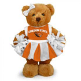 Oregon State Cheerleader Bear 8in