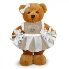Purdue Cheerleader Bear 8in