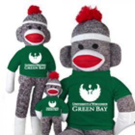 Wisconsin Green Bay Sock Monkey  (40