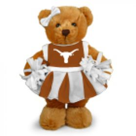 Texas Cheerleader Bear 8in