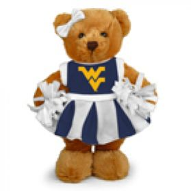 West Virginia Cheerleader Bear 8in